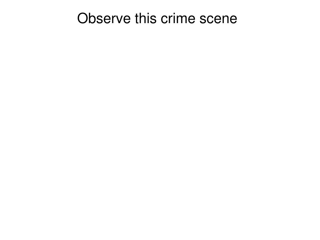 Observe this crime scene