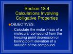section 18 4 calculations involving colligative properties31