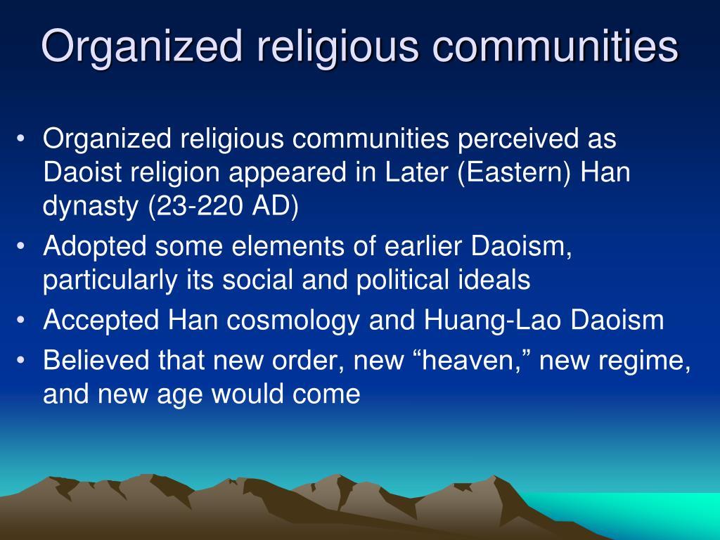organized religious communities