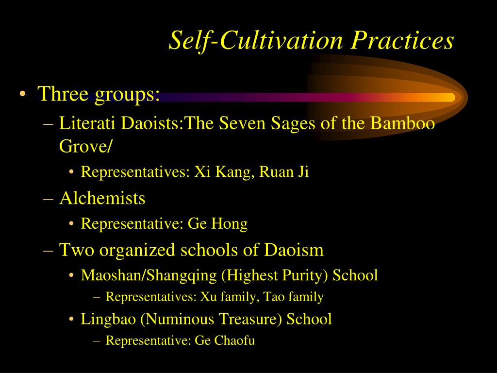 Self-Cultivation Practices