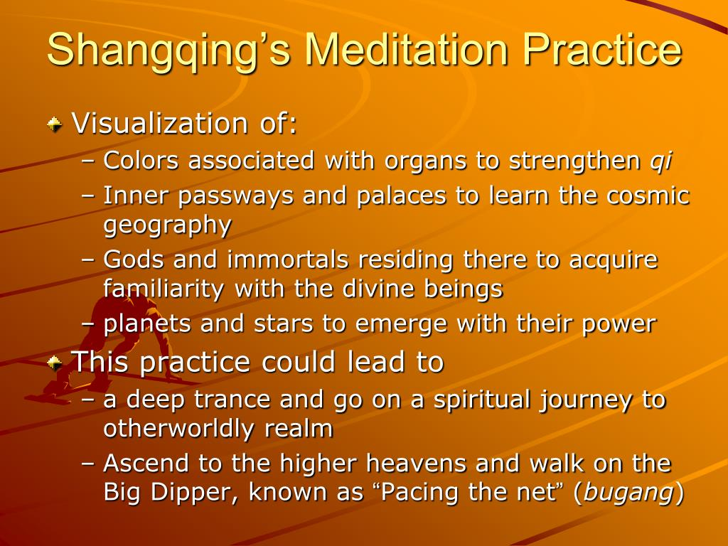 Shangqing's Meditation Practice