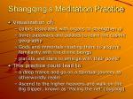 shangqing s meditation practice