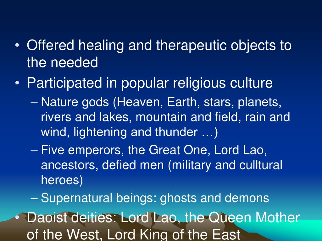 Offered healing and therapeutic objects to the needed