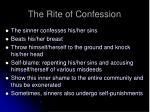 the rite of confession