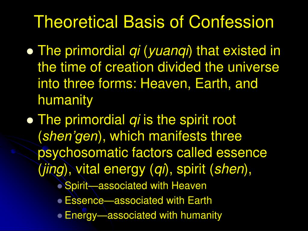 Theoretical Basis of Confession