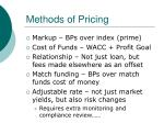 methods of pricing