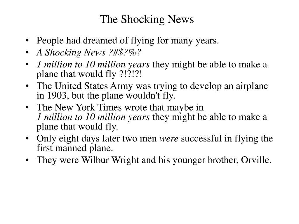 The Shocking News