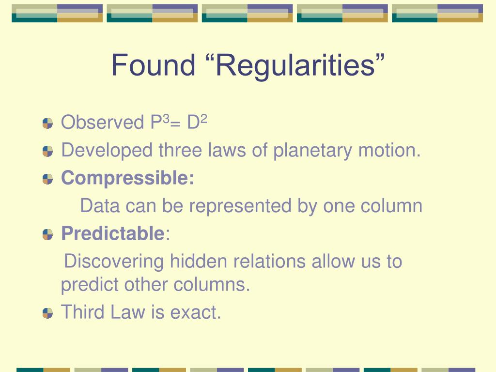 "Found ""Regularities"""