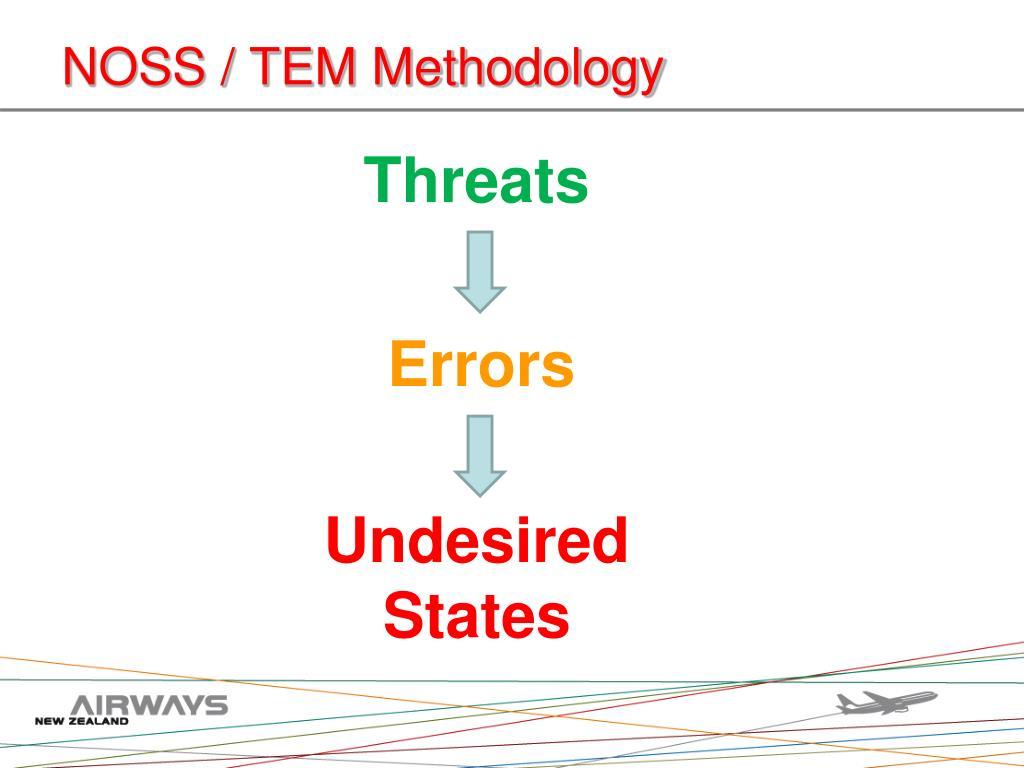 NOSS / TEM Methodology