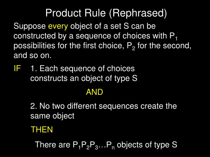 Product Rule (Rephrased)