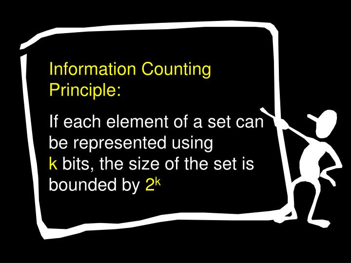 Information Counting Principle: