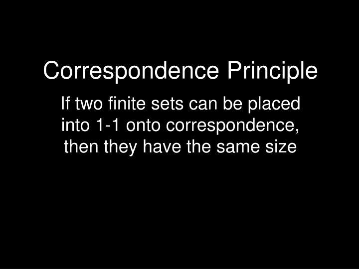 Correspondence Principle