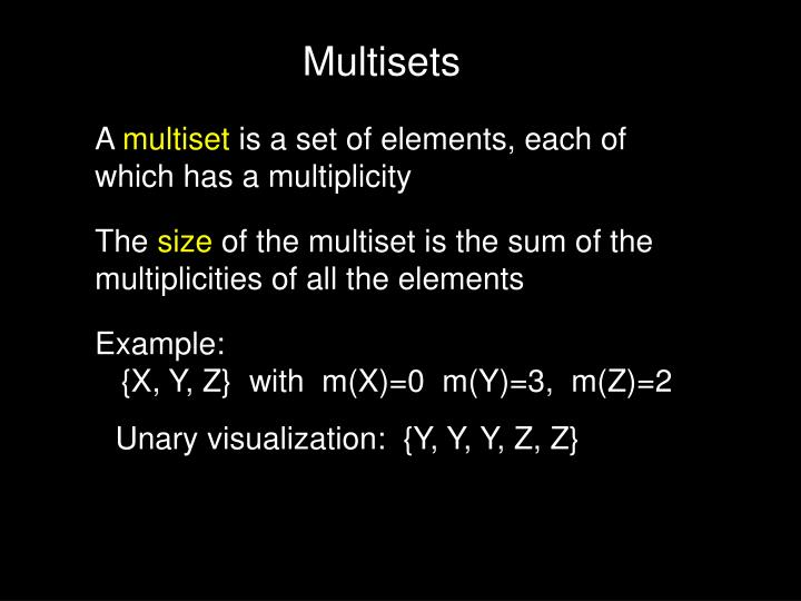 Multisets