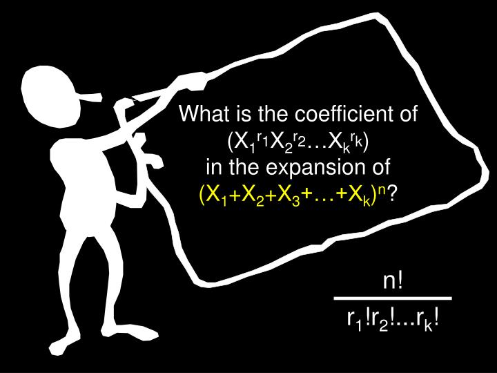 What is the coefficient of (X