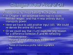 changes in the price of oil61