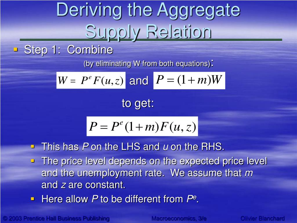 Deriving the Aggregate