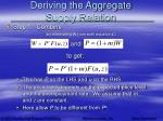 deriving the aggregate supply relation5