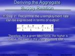deriving the aggregate supply relation6
