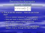 deriving the aggregate supply relation8