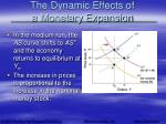 the dynamic effects of a monetary expansion