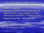 the dynamics of adjustment43