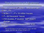 the dynamics of adjustment44