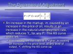 the dynamics of adjustment63