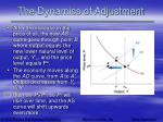 the dynamics of adjustment64