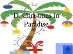 d christmas in paradise