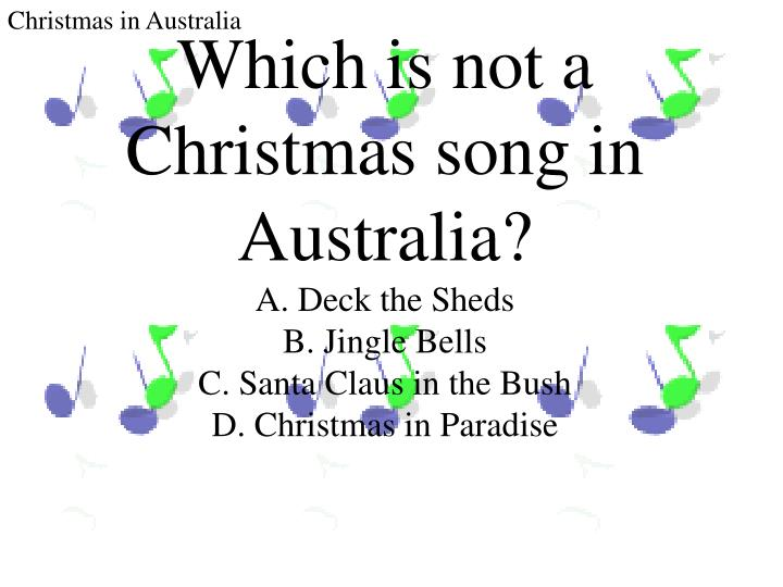 Which is not a Christmas song in Australia?