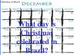 what day is christmas celebrated in brazil