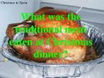 what was the traditional meat eaten at christmas dinner