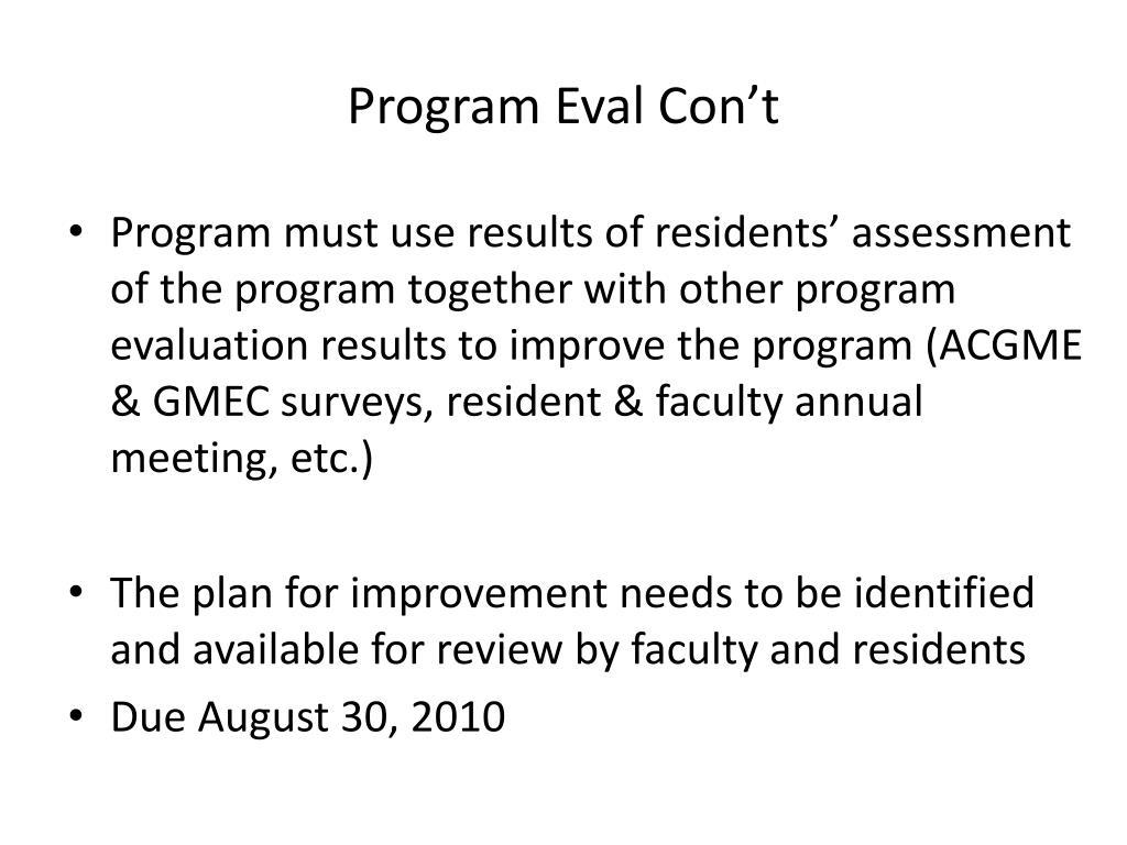 Common Program Requirements