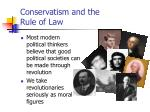 conservatism and the rule of law