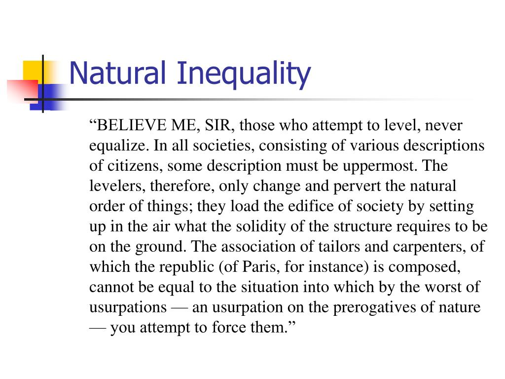Natural Inequality