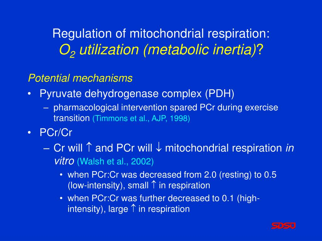 Regulation of mitochondrial respiration: