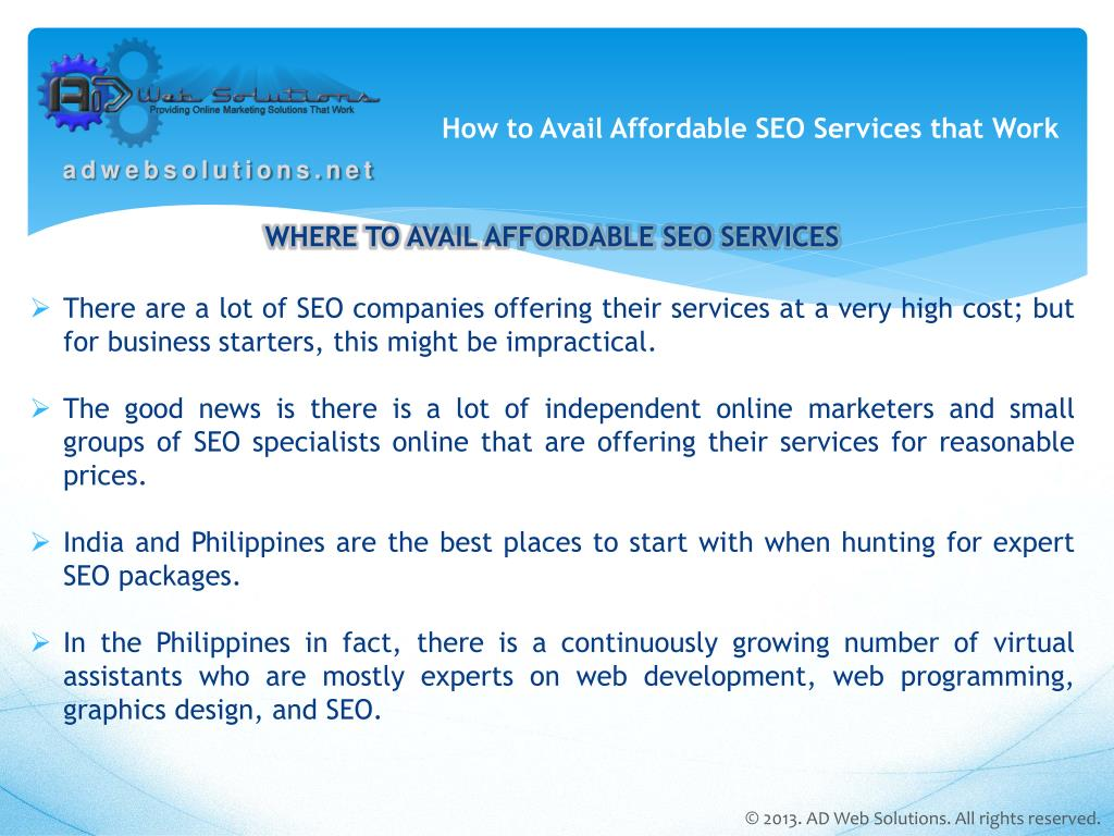 How to Avail Affordable SEO Services that Work