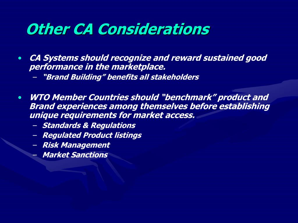 Other CA Considerations