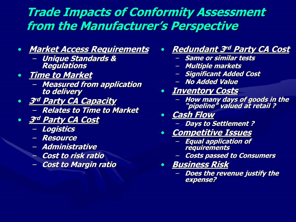 Market Access Requirements