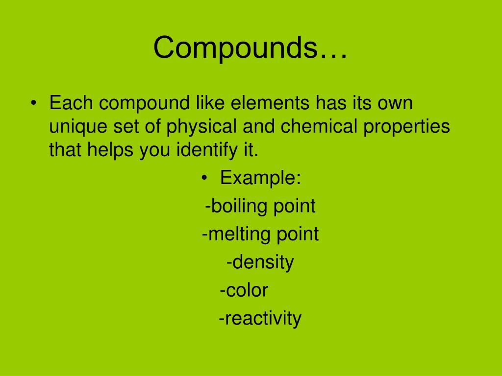Compounds…