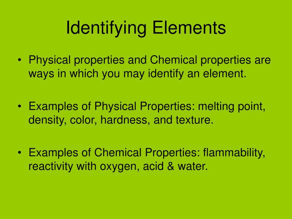 Identifying Elements