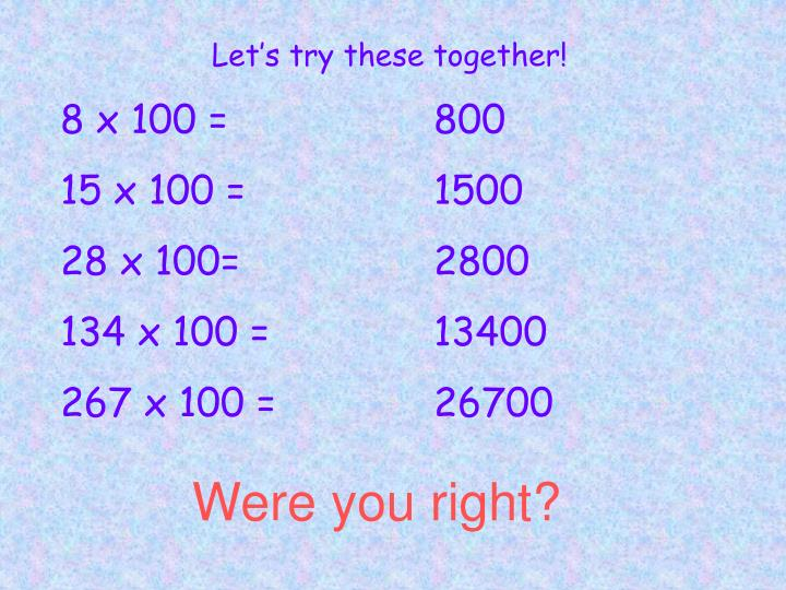 Let's try these together!