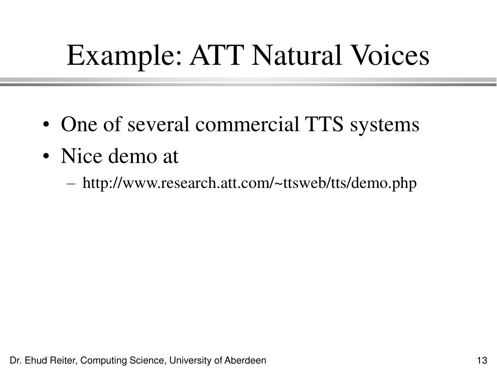 Example: ATT Natural Voices