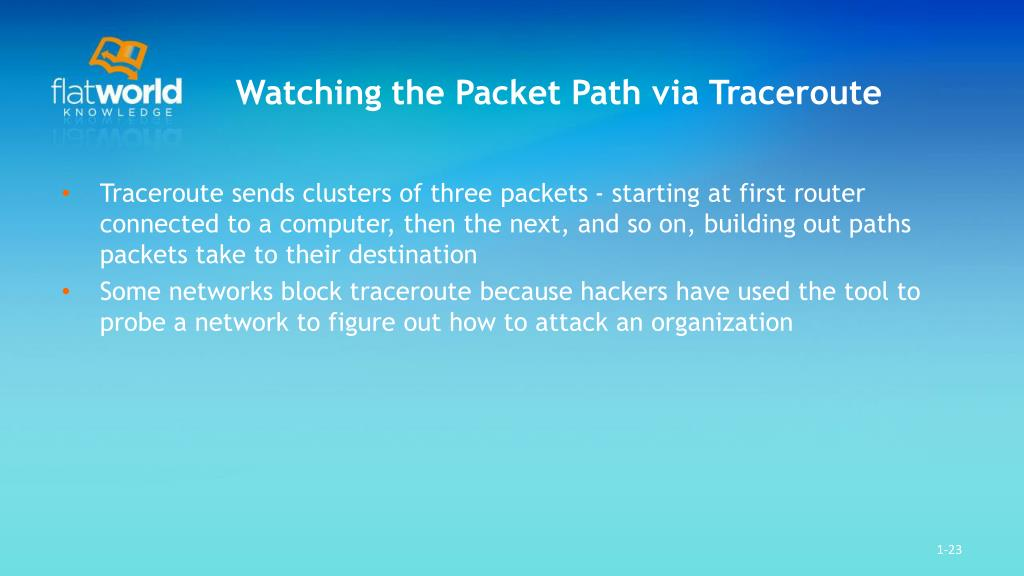 Watching the Packet Path via Traceroute