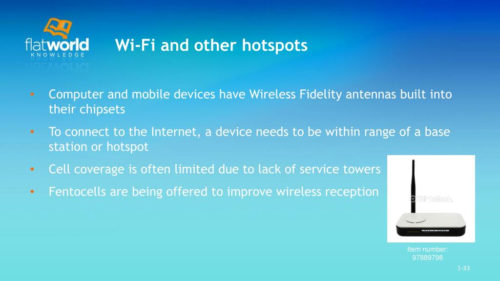 Wi-Fi and other hotspots