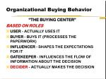 organizational buying behavior53