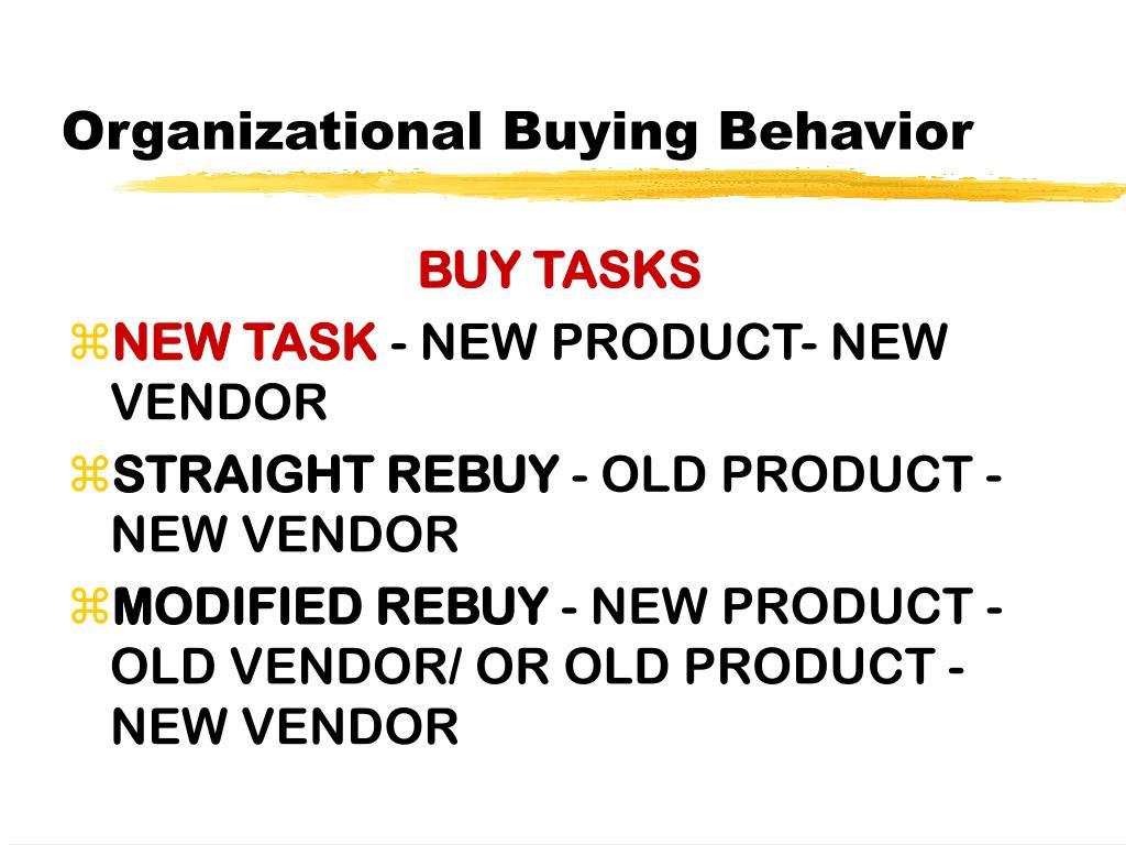 Organizational Buying Behavior