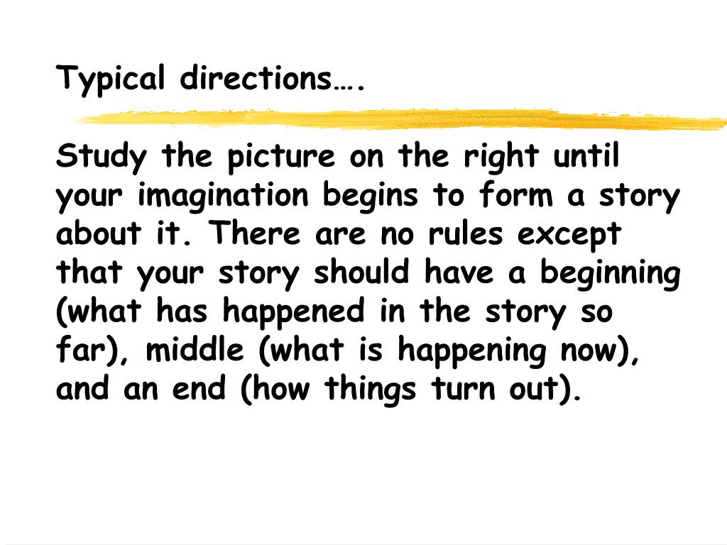 Typical directions….