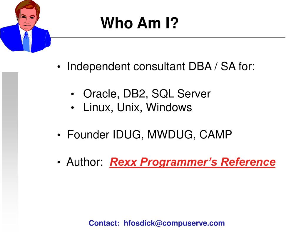 Independent consultant DBA / SA for: