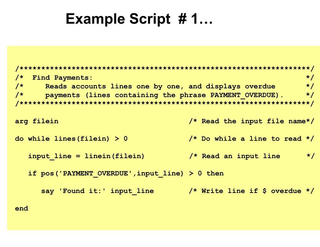Example Script  # 1…